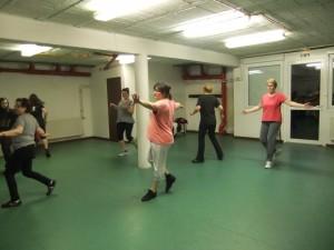 Photo du cours de danse rythmique