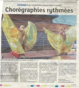 Article du Dernières Nouvelles d'Alsace pour la Fête de la Danse 2015 de Danse Loisirs Landser