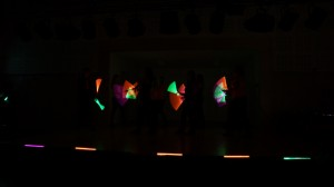 Chorégraphie lumineuse - Groupe des roses